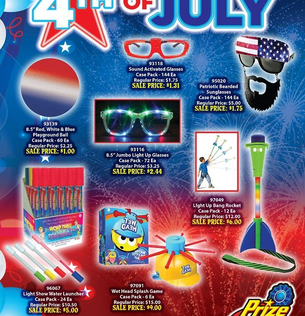 Great summer items! Just in time for the 4th of July!